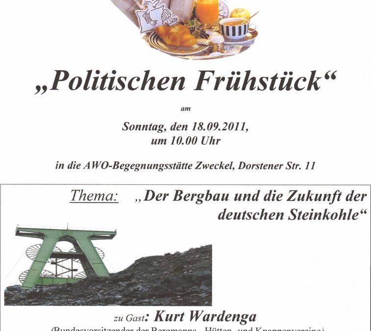 """Politisches Frühstück """"Gladbecker Bergbau"""""""