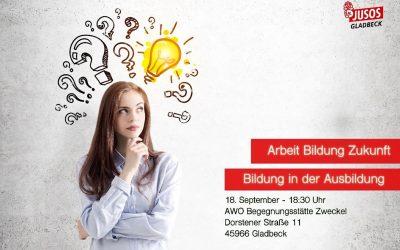 """Einladung zur Diskussion bei uns in Zweckel """"Arbeit Bildung Zukunft – Bildung in der Ausbildung"""""""