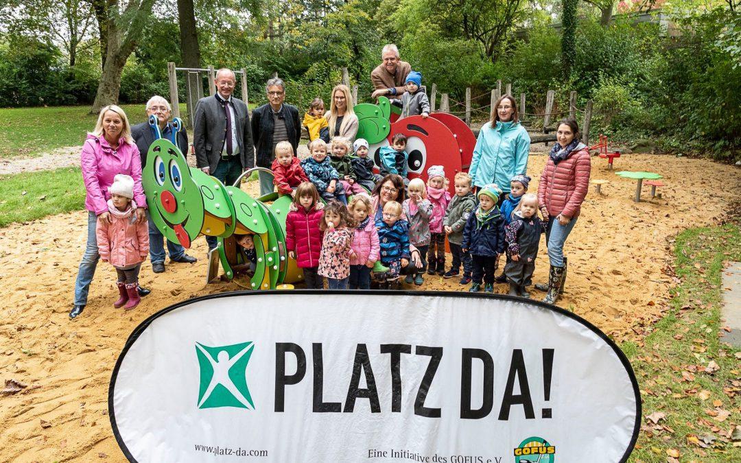 Toller Spielplatz für Zweckels Kleine an der Mozartstraße