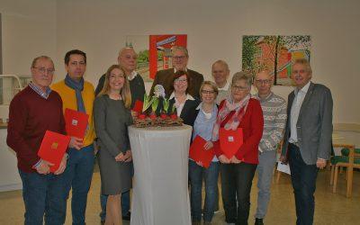Fröhliche Jubilarfeier heute in der AWO Zweckel mit Bürgermeisterkandidatin Bettina Weist