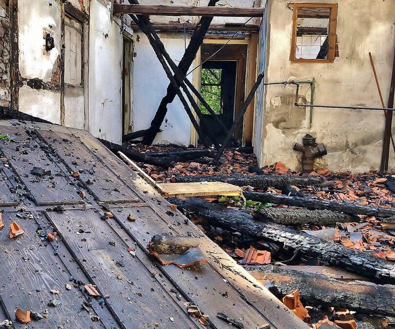Gestern Abend wurde ein Stück Zweckeler Geschichte Opfer eines Feuers