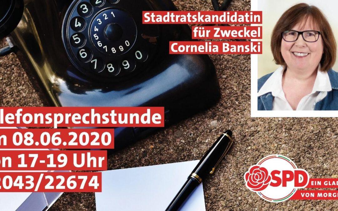 ☎️ Unsere Kandidatin für den Wahlkreis 06 – Zweckeler Norden, Cornelia Banski, ist heute am Telefon der SPD Gladbeck erreichbar.    Fragen und Anregungen sind herzlich willkommen: 02043/22674  #überzeugtvongladbeck #gladbeckvonmorgen #zweckelimblick