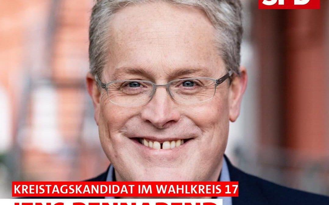 Wir stellen unsere Mannschaft vor: Heute unseren Kandidaten im Kreistagswahlkreis 17 – Zweckel JENS BENNAREND, 48 Jahre, Lehrer