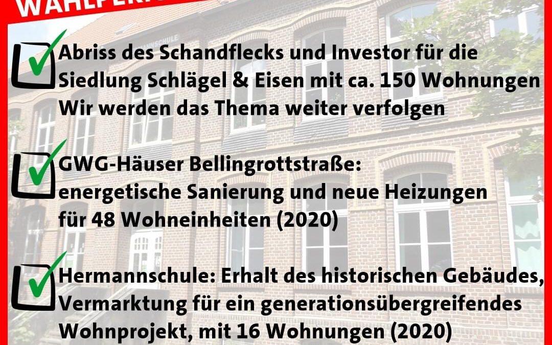 """Bilanz der Wahlperiode 2014 – 2020  Heute zum Thema """"Wohnen"""""""