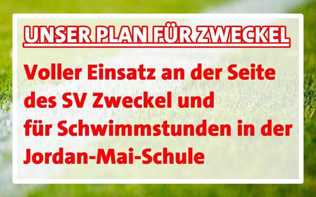 """Unser Zukunftsprogramm: Zweckel im Blick Heute zum Thema """"Sport und Bewegung"""""""