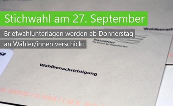 Am Sonntag, 27. September, sind die Bürgerinnen und Bürger nochmals an die Urnen gerufen