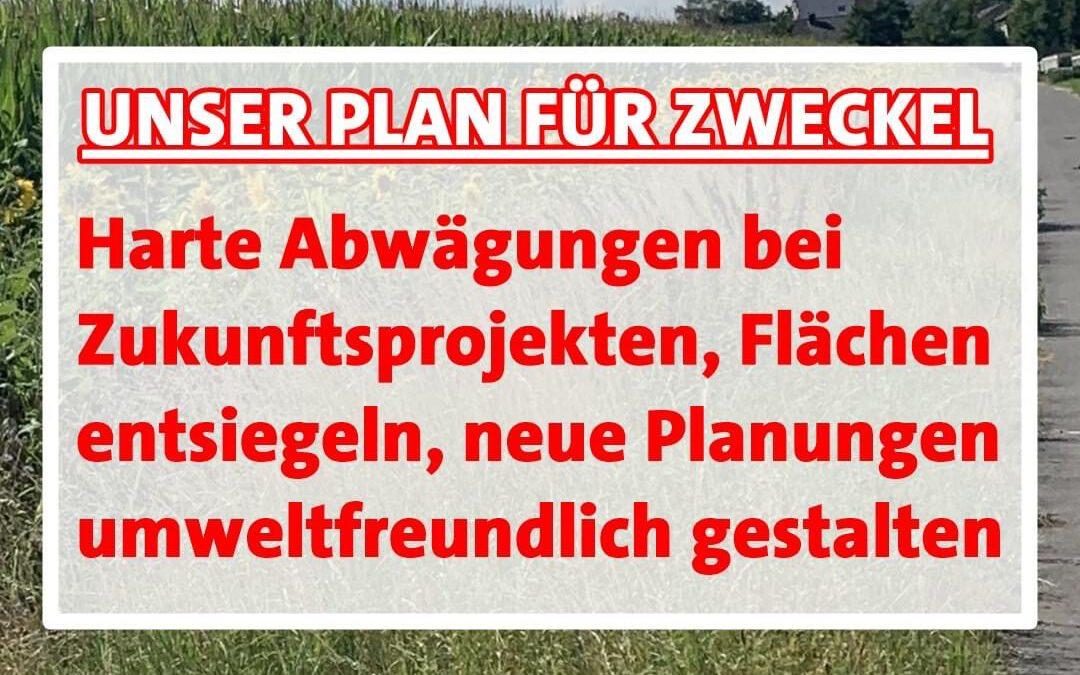 """Unser Zukunftsprogramm: Zweckel im Blick Heute zum Thema """"Grünes Zweckel"""""""
