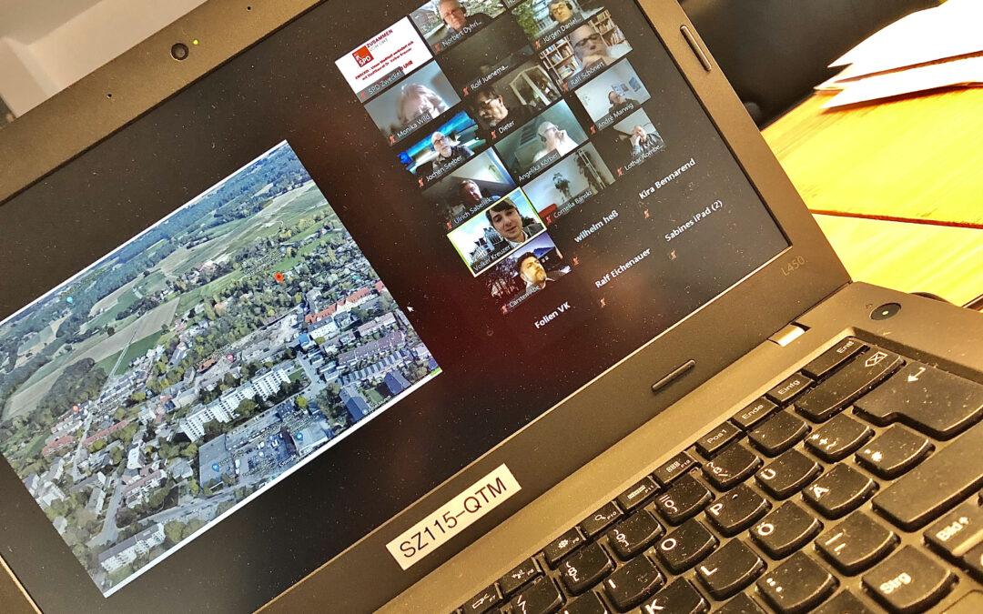 Videokonferenz mit dem Gladbecker Stadtbauurat Dr. Volker Kreuzer