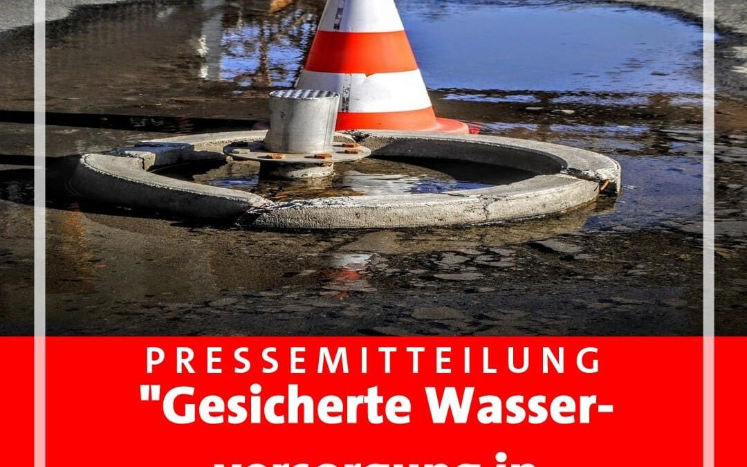 Gesicherte Wasserversorgung auch in Zweckel